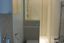 Small narrow bathroom