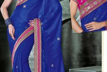 Bollywood Designer Saris / Latest Designs of Chiffon & Brasso Designer Bollywood Saris