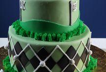 Golf bday cakes