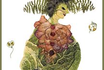 Fairytale Characters / Florotypes made  by Elzbieta Wodala,  http://www.elzbietawodala.netgaleria.pl/