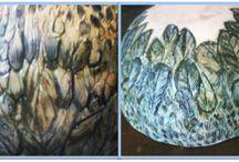 Bol ceramica plumas