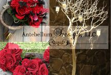 Red Weddings / Each board is a collage of a red wedding with ceremony and reception decorations with wedding flowers