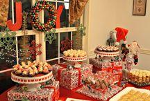 christmas buffet table