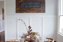 // farmhouse dining room //