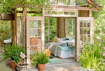 Recycled window greenhouses