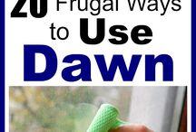 frugal ways for blue dawn dish soap