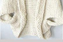 Oversize knitting sweater
