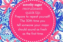 "sweet on greek ""QUICK TIPS"" / short & sweet TIPS for going greek and being greek!  / by sorority sugar"