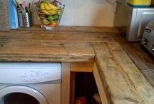 kitchen worktop and splashback