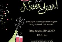 New Year's Party Inspiration / Inspiration for planning your New Year's Eve party from invitations to fun DIY projects.