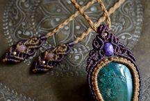 jóias raras em macrame