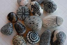 stone, rock, shell