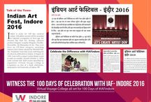 Indian Art Fest - Indore 2016 / Indian Art Festival is a 100 days carnival of Creativity, Individuality and Uniqueness in wherea few Art Geeks & Divergent Nerds have decided to Celebrate Art in the most Unconventional Way in the Heart of MP, the New-age Art capital - INDORE. . The event intends to give you an immersive environment to celebrate the work of fascinating & creative amateur people and to discover the artistic thinker inside every visitor!
