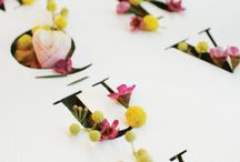 Floral Typeography