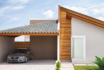 Fachadas e garagem