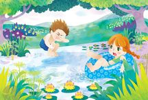 Kat Uno's Illustrations and Design / Cute, pretty and fun illustrations by Kat Uno via katuno.com. Childrens illustration, surface design and editorial work.