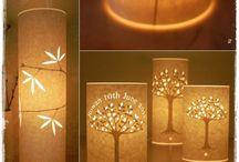 Lys diy lampe
