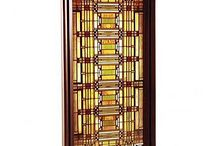STAINED GLASS ART DECO and ART NOUVEAU