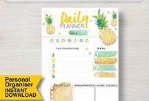 Personal Size Planner Printables / Personal Size Planner Printables - easy to print and get organized!