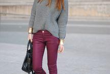 Fashion ✄ Pants (Burgundy)