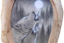 Wolf art / Unique wolf art