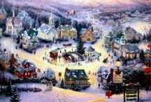 Thomas Kinkade Amazing Art Work / Art Work