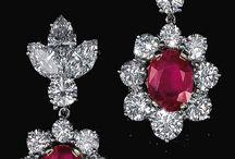 aretes de rubies t diamantes me facinan