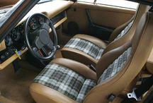 Porsche Tartan Interior 3 Spoke Steering wheel