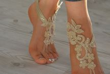 Barefoot sandals.Beach wedding.Ideas. / Barefoot sandals for beach wedding. Many brilliand and stunning ideas for your wedding shoes.
