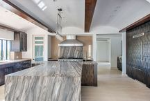 """Hillside Transitional Mediterranean Home Hollywood Hills, Los Angeles / """"To be a successful designer in the 21st century, an idea is simply not enough. A designer must take that idea and enhance it with an intuitive understanding of the end-user, the marketplace, modern décor and the potential of materials and processes."""" http://surfacesusa.com/stephanie-laney-designs-at-surfaces-usa/"""