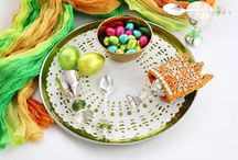 Easter Egg-stravaganza: fun, quirky gifts for new born babies, colourful, unique, handmade Christening Gift Ideas. / Easter Eggs, Egg Cups with Spoons & Egg Cosies! Unique Gift ideas for babies, Christenings, baby gifts, perfect birthday presents for the young at heart!