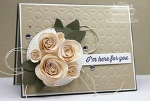 Rolled roses ideas  / Ideas for the roses  / by Crafty Hallett Stampin Up' UK Demonstrator