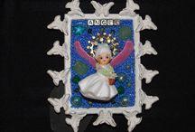Mosaic Angels / Angel mixed media mosaics