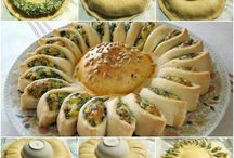 Pietanze salate / Torta salata con la sfoglia