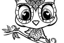 Line Art / Coloring pages, embroidery outlines and digi stamps / by Chrystal Lytle Rhodes
