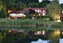 Wellness- und Gartenhotel Köhlers Forsthaus, Aurich / Dieses Wellness- und Gartenhotel liegt umgeben von einer parkähnlichen Gartenanlage an einem kleinen See, in ruhiger Lage am Waldrand, nur 3 km vom Stadtzentrum Aurich entfernt.