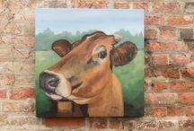 Original Cow Art / original art for sale