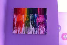 Crayon canvas  / Crayon melt canvas