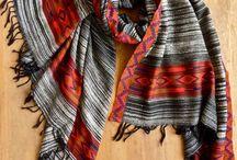 Cosy yak wool oversized scarves / Handwoven yak wool blanket shawls