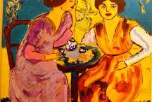 femmes impressionistes / acrylique