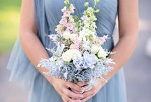 Dusty Blue, Blush and Dusty Rose Wedding Color Inspirations