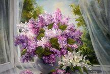 Imagens - Flores em recipientes / Pintura, ilustração e arte decorativa