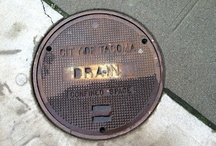 Tacoma Streets / I was just walking around downtown the other day like usual and I was suddenly struck by all the interesting things on the ground. Each of these little hatches are unique and I just felt compelled to appreciate them on film.