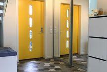 Gul ytterdør / Tøft med gul dør. Gule dører for deg som tør litt ekstra.