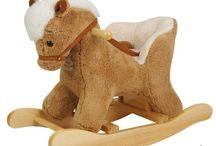 cheval à bascule / tout sur l'animal en bois... en peluche ou en tissu