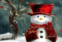Christmas / Christmas Snowmen Twitter Cover