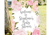 Baby shower entrance sign