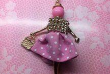 Collana bambolina rosa / Le miky creazioni