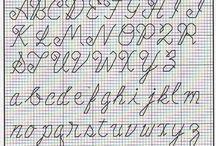Punto scritto alfabeto
