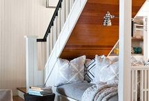 Cozy Nooks / Bed under stairs